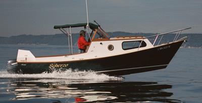 Custom wood boat 23' Planing Dory