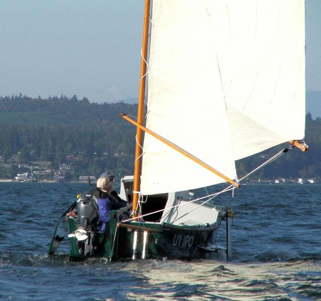 Used Bolger Black Skimmer for sale, custom wooden sailing